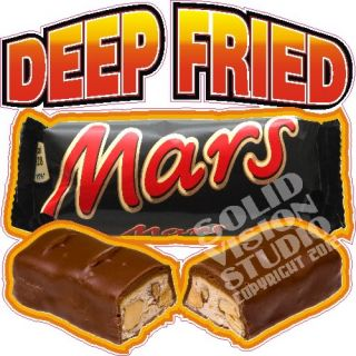 "14"" Deep Fried Mars Bar Candy Fun Treat Food Cart Concession Trailer Sign Decal"