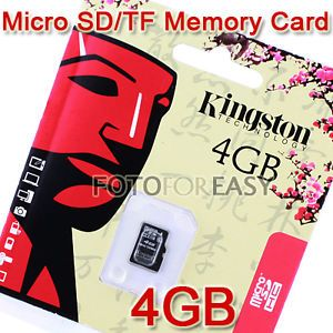 4GB 4G Class 4 Micro SD HC TF Flash Memory Card for Mini DV Camera DVR Recorder