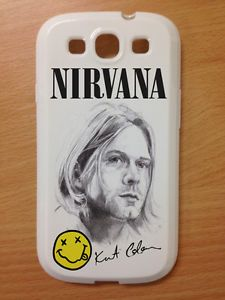 Nirvana Kurt Cobain Mobile Cell Phone Back Case Fits Samsung Galaxy S3 I9300