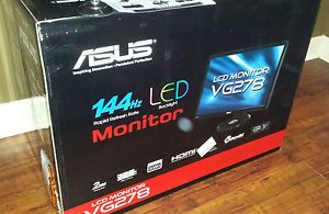 "New Asus 3D VG278HE 27"" Widescreen LED LCD Monitor Built in Speakers MSRP $490 886227206193"