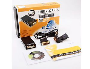 USB 2 0 UGA to DVI VGA HDMI Multi Display Dual Monitor Converter VVS UGA17D1