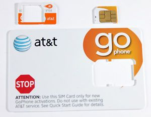 New at T Repaid Go Phone 3G Micro Sim Card for iPhone 4 4S iPad Galaxy S2 S3