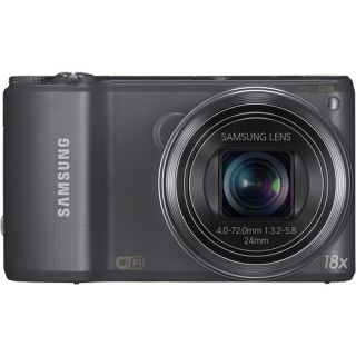 Samsung WB250F Digital Camera Gun Metal 2 Batteries 16GB Case 887276010052