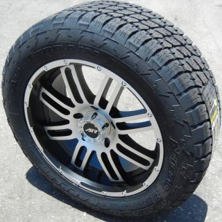 "20"" Black American Racing 901 Nitto Terra Grappler Tires Ford F 150 Expedition"
