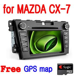 Cool 8 inch Car GPS Navigation DVD Player for Mazda CX 7 Sygic GPS Map