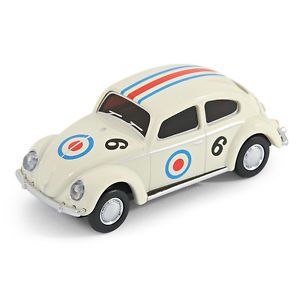 Classic VW Beetle Car USB Memory Stick Flash Pen Drive 8GB White Racing Car