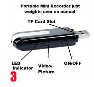 Details about Mini USB Flash Drive Spy Camera Hidden DVR 720*480