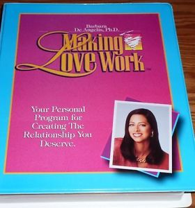 Barbara de Angelis Making Love Work Program 3 VHS Workbook 5 Cassettes