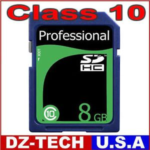 Brand New 8GB Class 10 SD HC SDHC High Speed Professional Flash Memory Card 8g