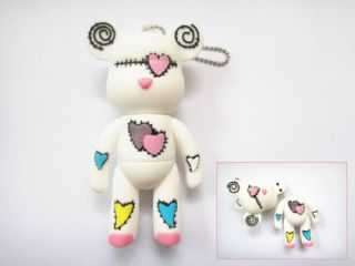 Cute Love Bear White USB 2 0 Flash Memory Drives 4GB 8GB 16GB 32GB Stick Thumb