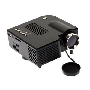 Home Theater Multimedia HD Mini LED Projector HDMI TV DVD VGA USB Input Black