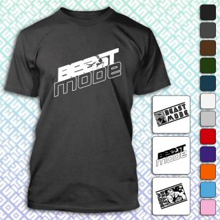 Beast Mode Crossfit Training Gym Weightlifting Arnold Workout Mens T Shirt Tee