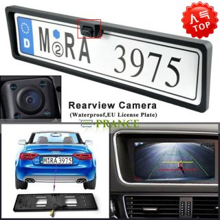 Waterproof Russian Car License Plate Frame Rearview Camera with Night Vision