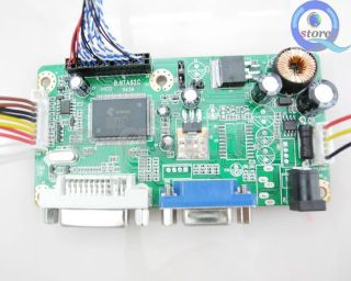 LCD Controller Board DIY Kit NTA92C VGA DVI Turn LCD Panel to Desktop Monitor