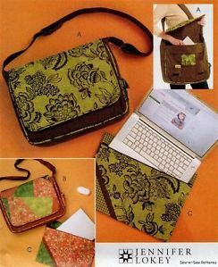 McCalls 5824 Sewing Pattern Messenger Bag Organizer Laptop Notebook Case Cover