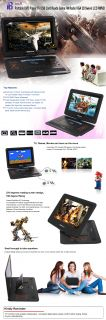 Details about 16.5inch Portable DVD Player TV USB Card Reade Game FM
