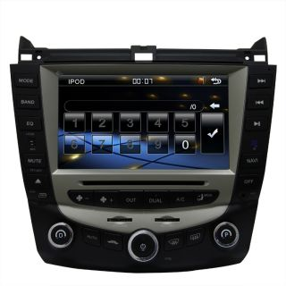 Accord Car GPS Navigation Radio TV Bluetooth USB  DVD Unit Player