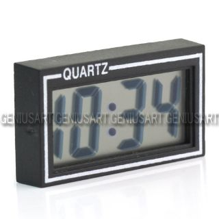 Mini Digital LCD Auto Car Truck Dashboard Desk Date Time Calendar Clock Black