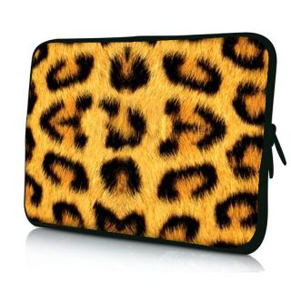 "14 inch 14 1"" Leopard Print Soft Netbook Laptop Sleeve Bag Case Cover Pouch"