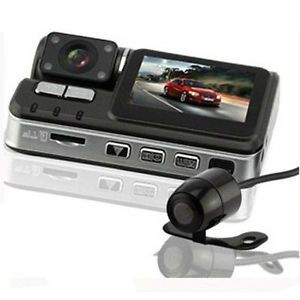 HD 720P Dual Lens IR Night Vision Car DVR Camera Dash Recorder Motion Detection
