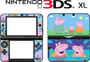 Nintendo 3DS XL 3DSXL 3 DS XL Peppa Pig Vinyl Skin Decal Sticker