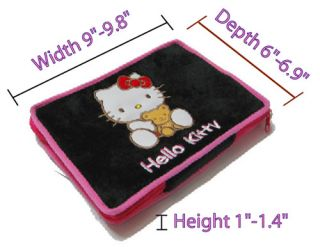 Hello Kitty Mini Pad Tablet Laptop Travel Soft Case Black Protective Sleeve B07