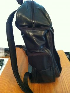 Harley Davidson Black Leather Backpack  laptop Case