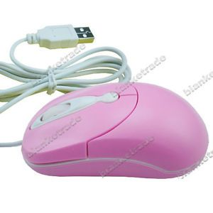 Mini Cute Optical Mouse Mice for Girl Kids for Laptop PC Pink