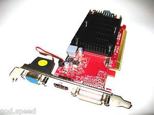 ATI 512MB PCI Express PCI E x16 Single Slot Video VGA Graphics Card DVI HDMI VGA