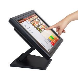 "New 15"" Touch Screen POS TFT LCD Touchscreen Computer Monitor Retail Kiosk Bar"