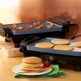 GreenPan Electric Reversible Grill Griddle Small Kitchen Appliance New