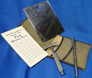 WW1 U s Army Issue Penn Safety Razor Doughboy Field Gear Snap Case Wallet