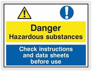 Danger Hazardous Substances Sticker Warning Safety Vinyl Decal Caution Security