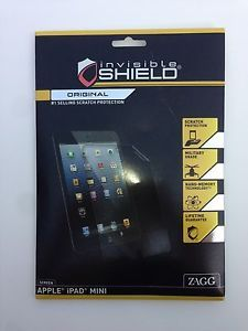 INVISIBLE SHIELD ZAGG APPLE iPAD MINI SCREEN PROTECTOR SCRATCH RESISTANT LCD