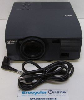 NEC MT1040 LCD Home Theater Projector 654 Lamp Hours with Power Cable 200192883386
