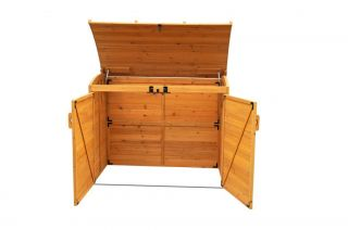 Leisure Season RSS2001 Horizontal Trash Can Storage Shed