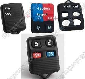 Keyless Entry 4 Buttons Key Remote Control Fob Shell Case Keypad for Ford Cars