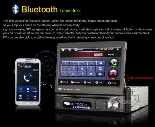 "ES7088US 7"" Detachable 1 DIN HD Car DVD USB SD Player GPS iPod 3G Cam DVR DTV In"