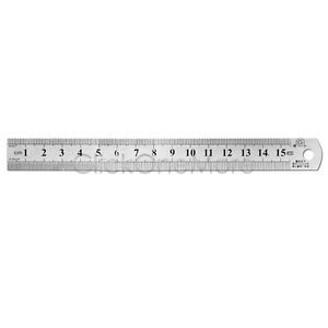 Short Rule 6inch 150 mm Stainless Steel Metal Rulers with Conversion Table Tool