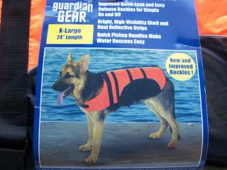 Guardian Gear Aquatic Pet Dog Life Preserver Safety Vest Jacket New Size XL