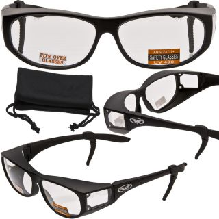 Escort Advanced Fit Over Safety Glasses Matte Blk Frame