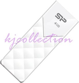 Silicon Power 4GB 4G USB Flash Pen Drive Diamond Pattern LED Ulitma U03 White