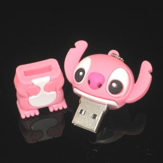 16GB Cartoon Figure Pink Stitch USB Flash Drive Memory Stick Pen Drive Box