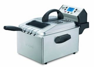 Waring Pro New Deep Fryer 1 Gal Oil 2 30 lb Food Brushed Stainless Steel