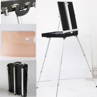 Portable Aluminum Alloy Foldable Artist Easel Sketch Box Tripod for Oil Painting
