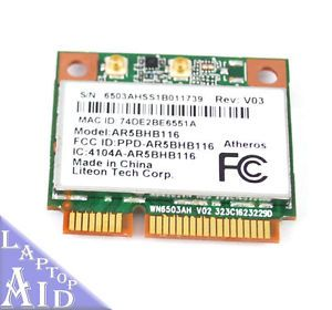 Fujitsu LifeBook T731 Wireless Card WiFi Network AR5BHB116 Laptop Tested