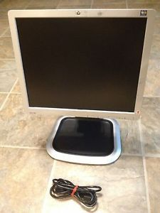 "HP L1750 17"" LCD TFT Flat Panel Rotating Monitor w USB Hub VGA DVI 5060187224731"