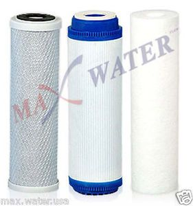 Max Water Whole House Water Filter Replacement Set Sediment Carbon GAC CTO