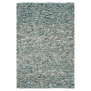 Safavieh Leather Shag Light Blue Rug