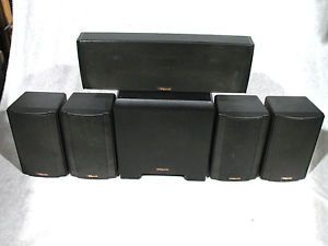 Klipsch 5 1 Home Theater Surround Sound Speaker System KSW 50 KSB 1 1 KSC C1